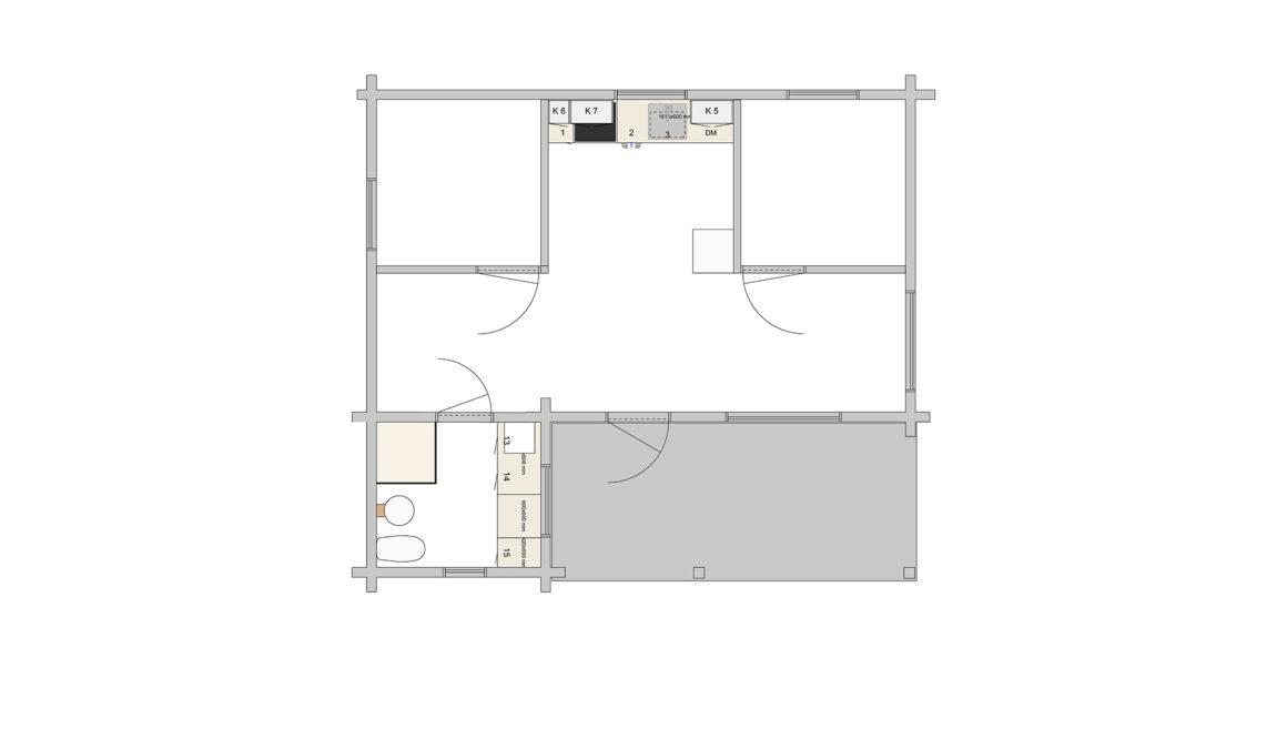 Nässelblad 1-plan - Förslag 1