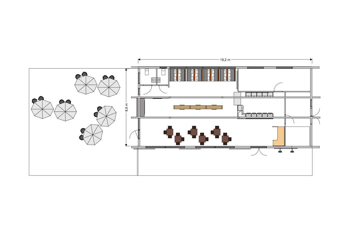 Sjöhuset Café - Huvudplan